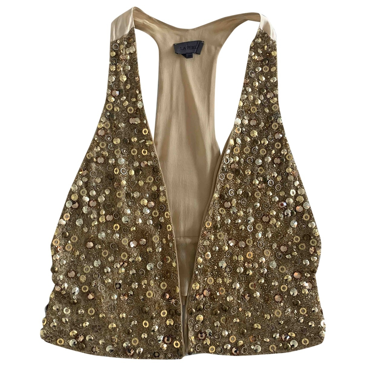 La Perla \N Gold Silk  top for Women 38 IT
