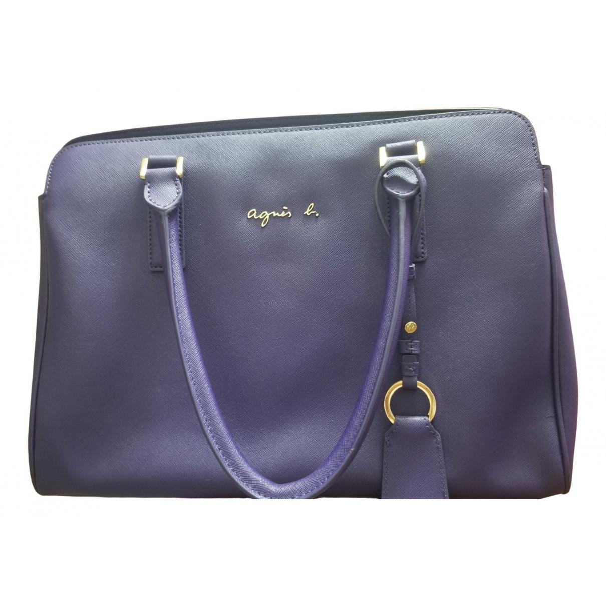 Agnes B. \N Handtasche in  Lila Leder