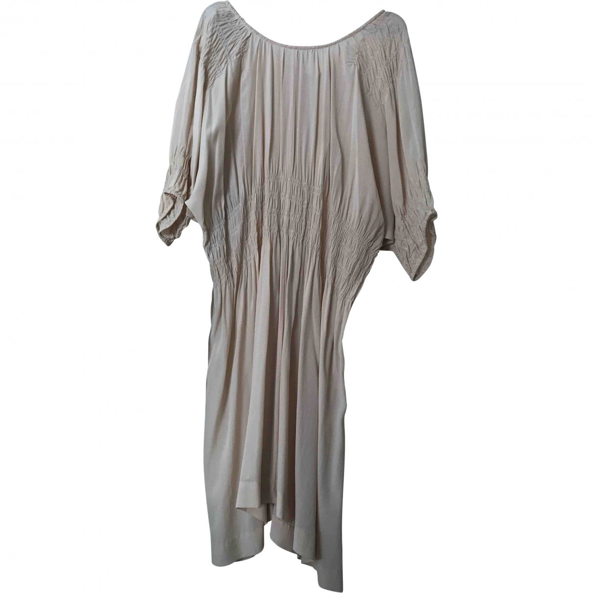 Isabel Marant Etoile \N Ecru Silk dress for Women 36 FR