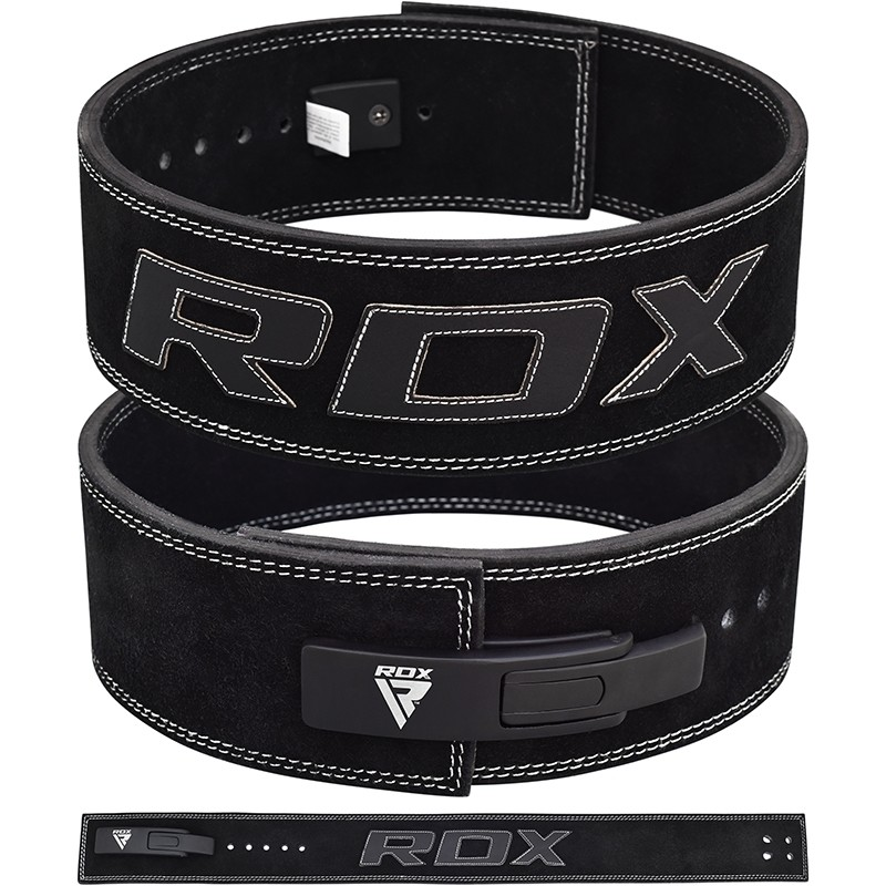 RDX 4L 10mm Ceinture de Musculation Grande  Noir Cuir