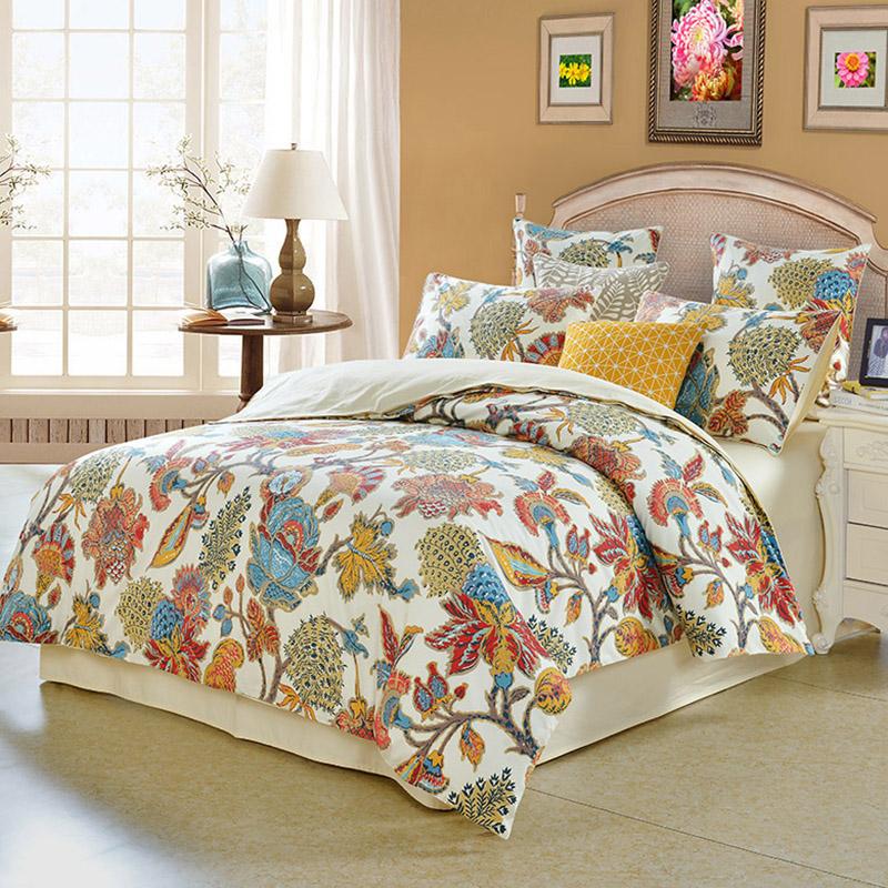 Inspire by Intelligent Design Reactive Printing Duvet Cover Set Four-Piece Set Polyester Bedding Sets