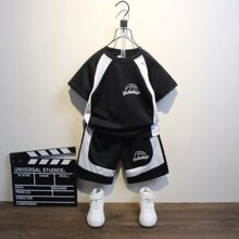 Boys Figure Graphic Tee & Track Shorts