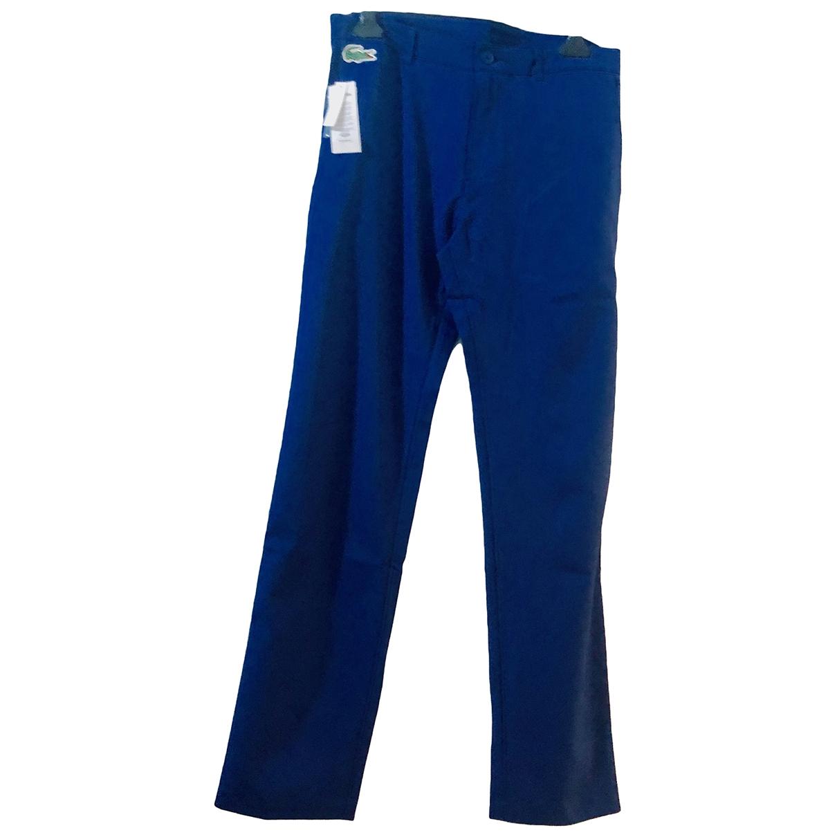 Lacoste \N Blue Trousers for Men 42 FR