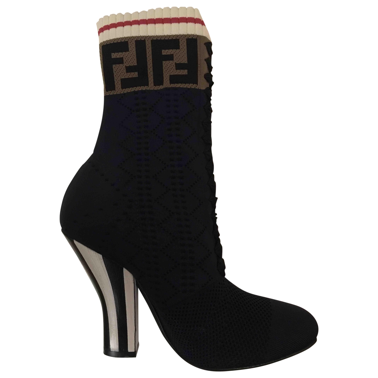 Fendi \N Blue Cloth Ankle boots for Women 36 IT