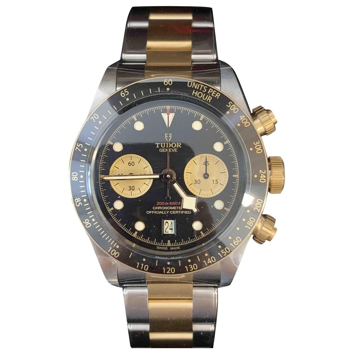 Tudor \N Uhr in  Schwarz Gold und Stahl