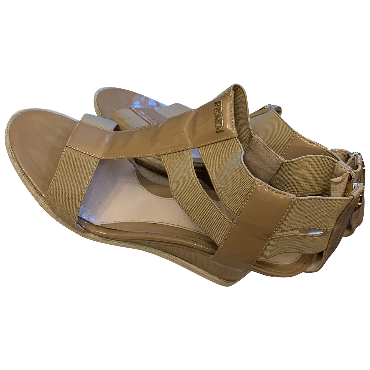 Fendi - Sandales   pour femme en toile - beige