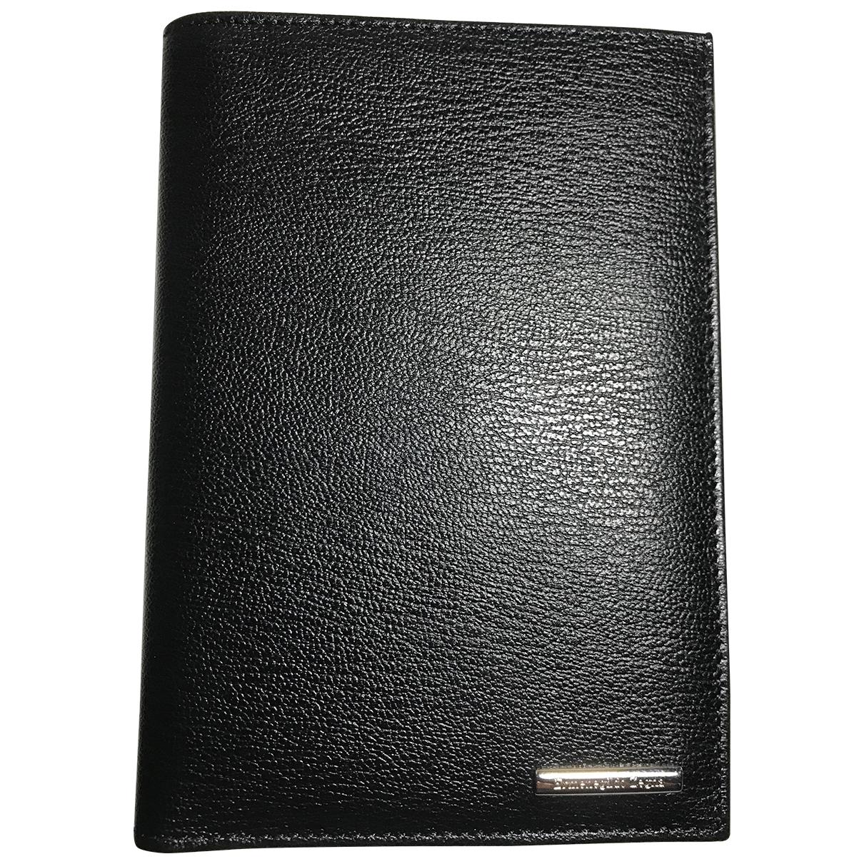 Ermenegildo Zegna \N Kleinlederwaren in  Schwarz Leder