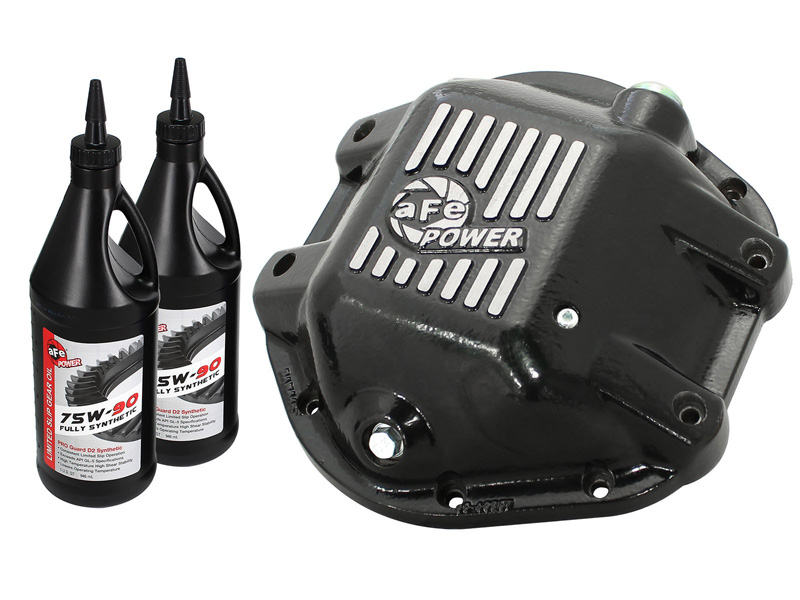 aFe POWER 46-70162-WL Differential Cover, Machined Fins w/ Gear Oil Jeep 97-16 (Dana 44 Axles)