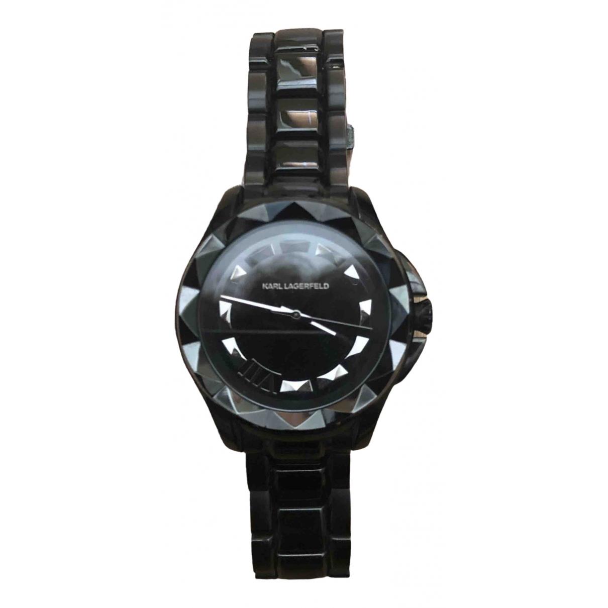 Karl Lagerfeld - Montre   pour femme en ceramique - noir