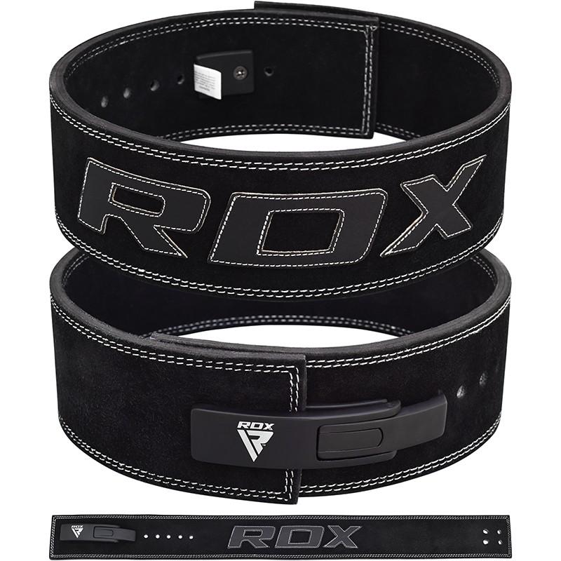 RDX Cinturon de Potencia Cuero Negro 10 mm   Pequeño