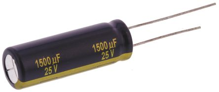 Panasonic 1500μF Electrolytic Capacitor 25V dc, Through Hole - EEUFK1E152L (5)