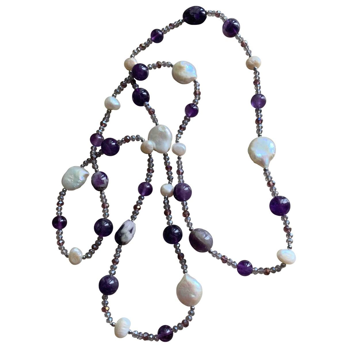 Collar largo Amethyste de Perlas Non Signe / Unsigned