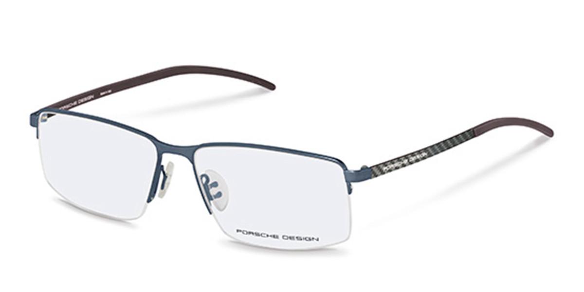 Porsche Design P8347 B Men's Glasses Blue Size 56 - Free Lenses - HSA/FSA Insurance - Blue Light Block Available