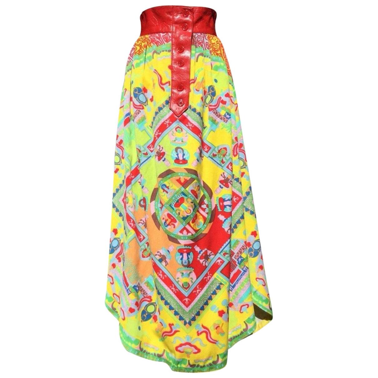 Lanvin \N Multicolour Cotton skirt for Women 38 FR