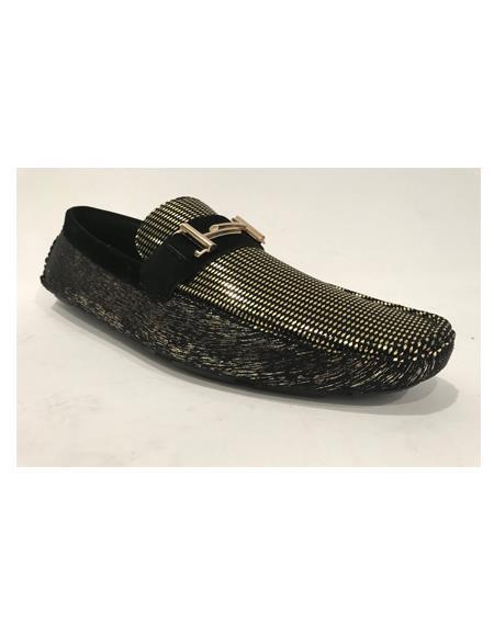 Mens Slip-On Black Shoes