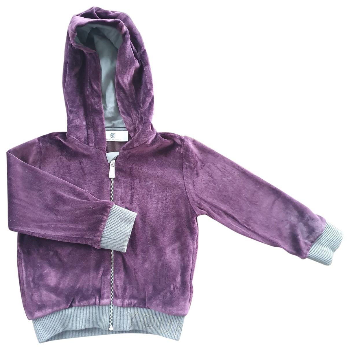 Versace \N Burgundy Velvet Knitwear for Kids 18 months - up to 81cm FR