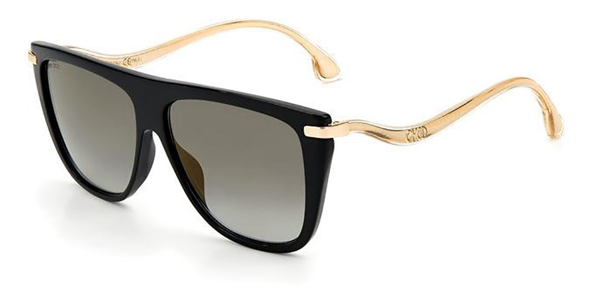 Jimmy Choo SUVI/S 807/FQ Women's Sunglasses Black Size 58
