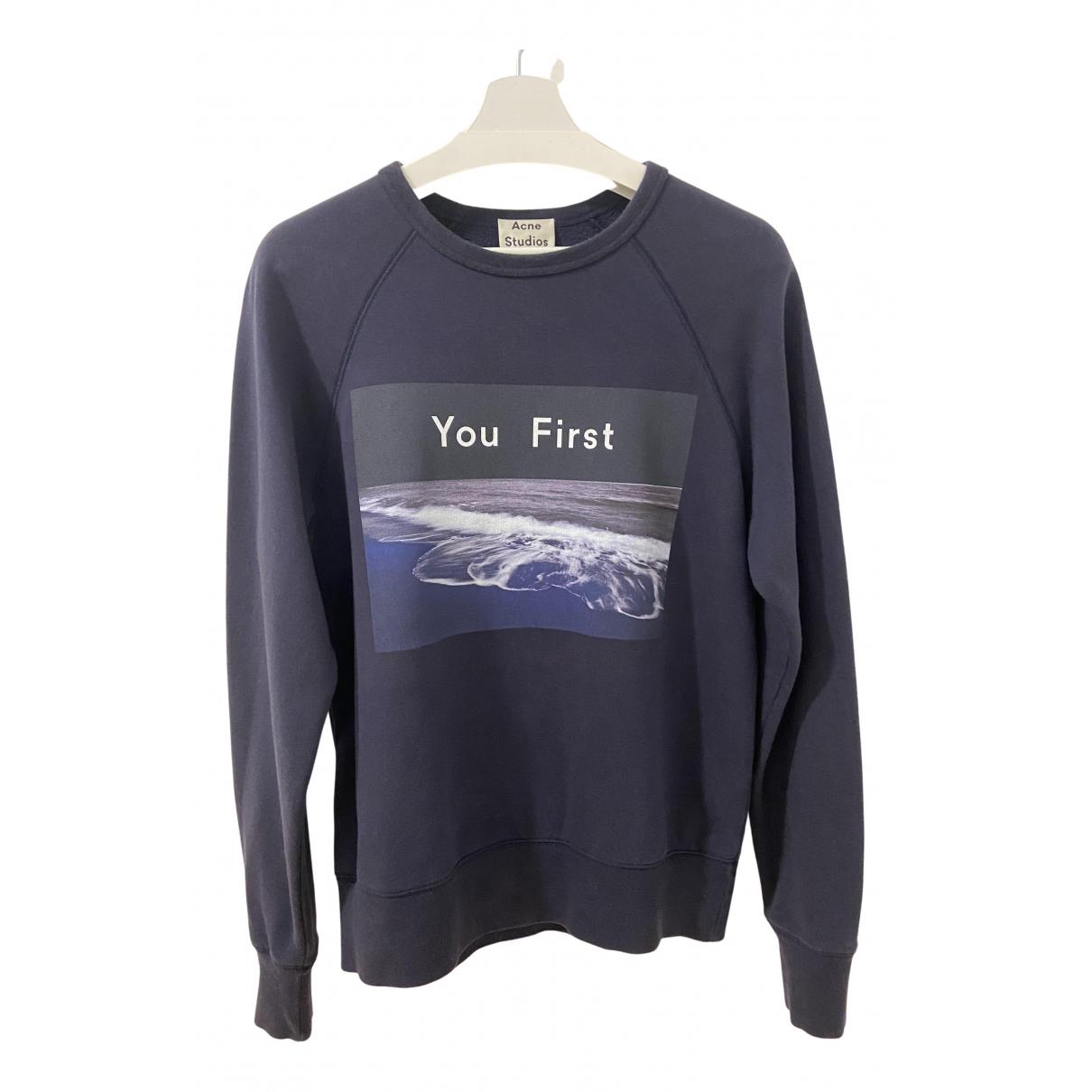 Acne Studios N Blue Cotton Knitwear & Sweatshirts for Men XS International
