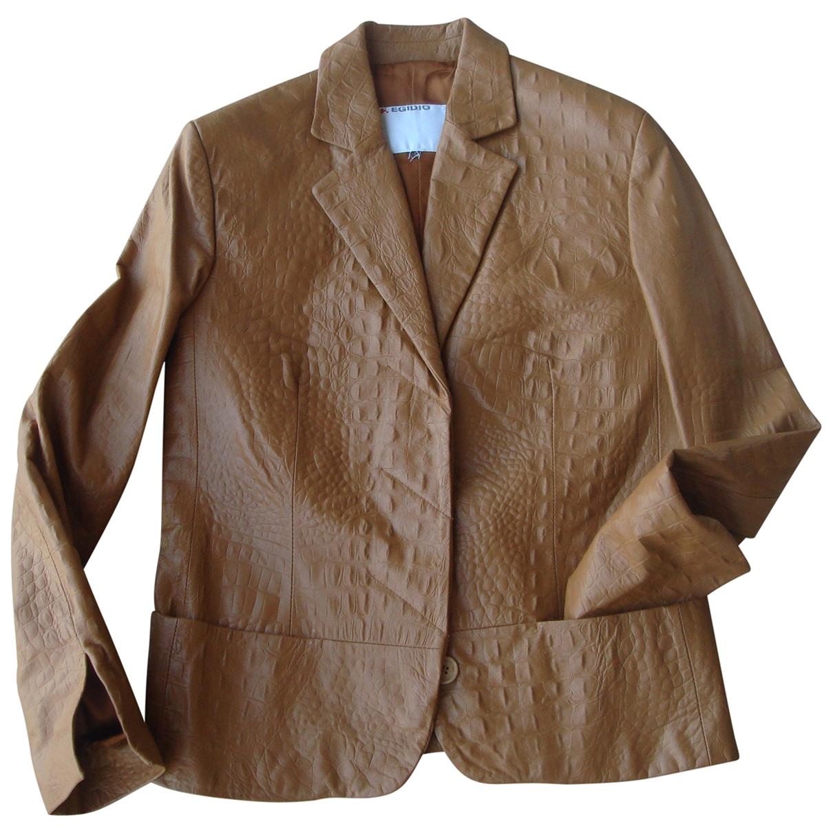- Veste   pour femme en cuir - marine
