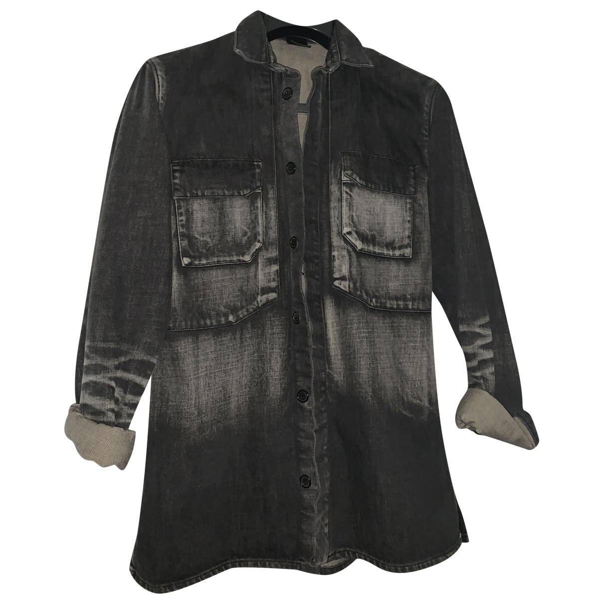 Dior Homme \N Black Denim - Jeans jacket  for Men 44 FR