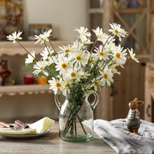 1branch Artificial Daisy With 5pcs Head