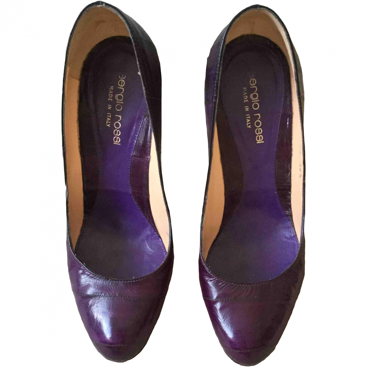 Sergio Rossi \N Purple Leather Heels for Women 36.5 EU