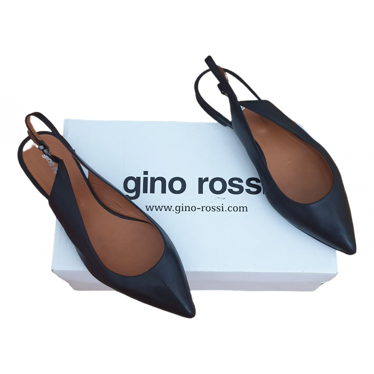 Gino Rossi \N Black Leather Sandals for Women 37.5 EU