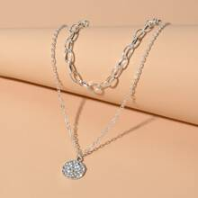 Round Layered Chain Necklace