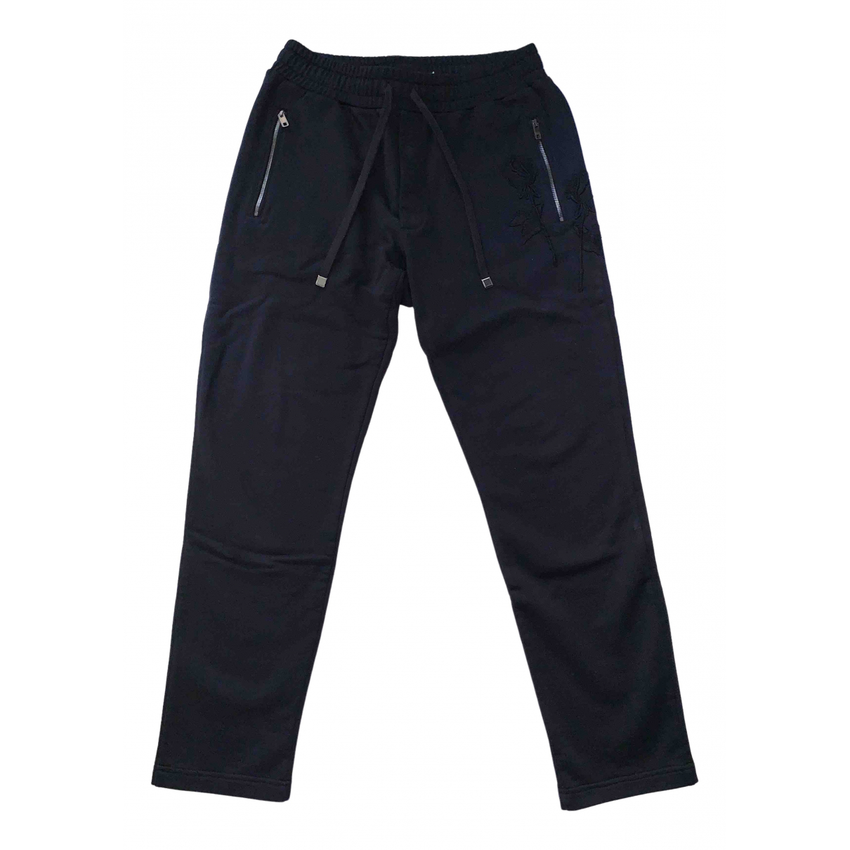 Dolce & Gabbana - Pantalon   pour homme en coton - noir
