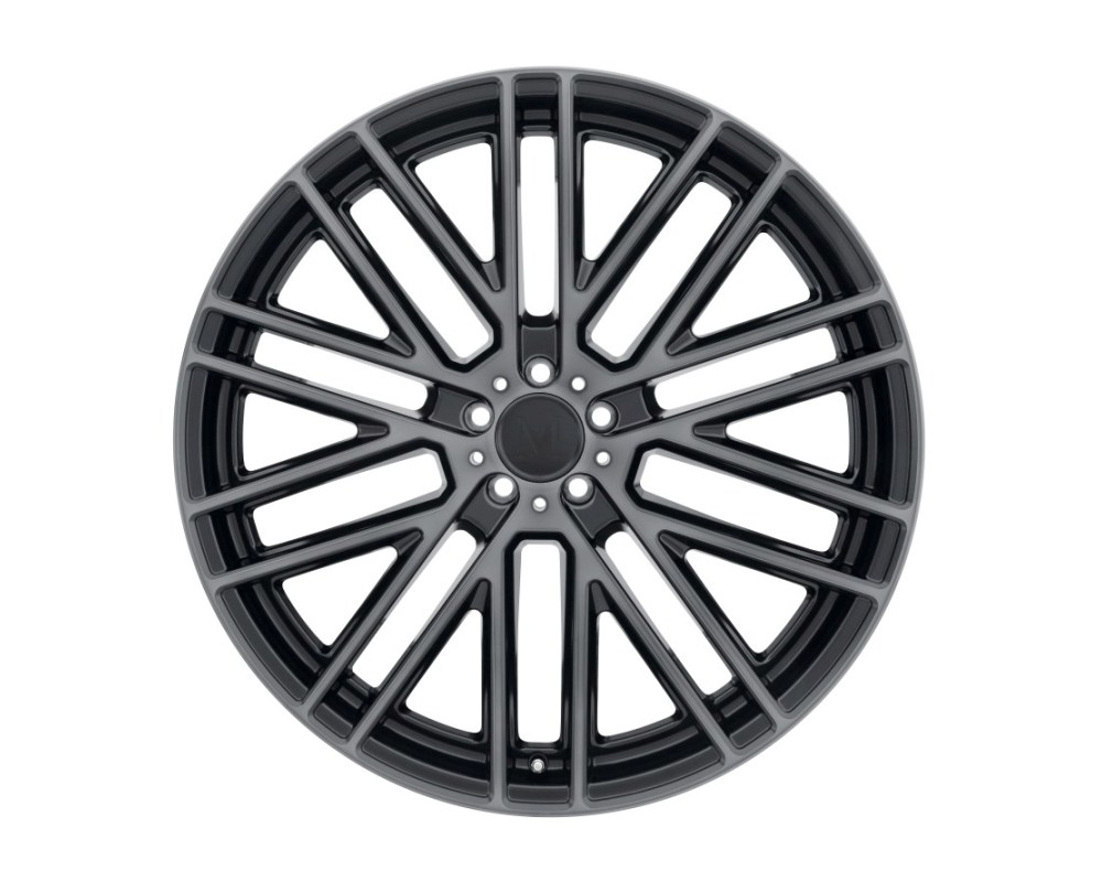 Mandrus Masche Wheel 18x8.5 5x112 32mm Semi Gloss Black w/ Mirror Cut Face & Translucent Clear