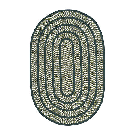 Safavieh Irving Bordered Braided Rug, One Size , Green