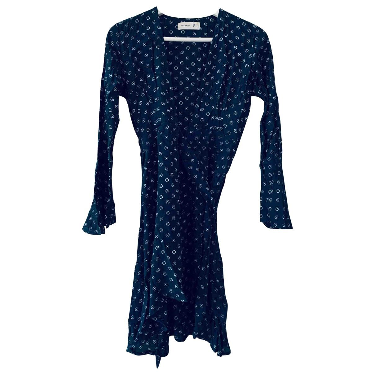 Faithfull The Brand - Robe   pour femme en soie - bleu