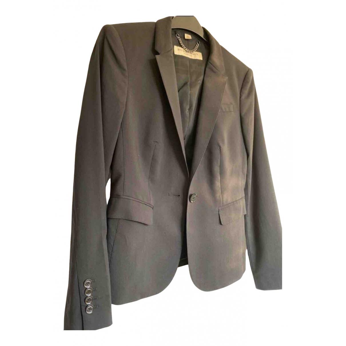 Burberry N Black Wool jacket for Women 6 UK