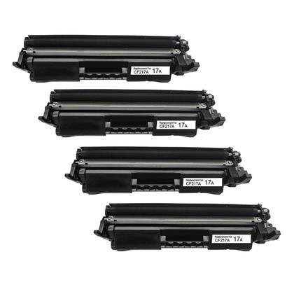 Compatible HP 17A CF217A cartouche de toner noir - avec chip - boite economique - 4/paquet
