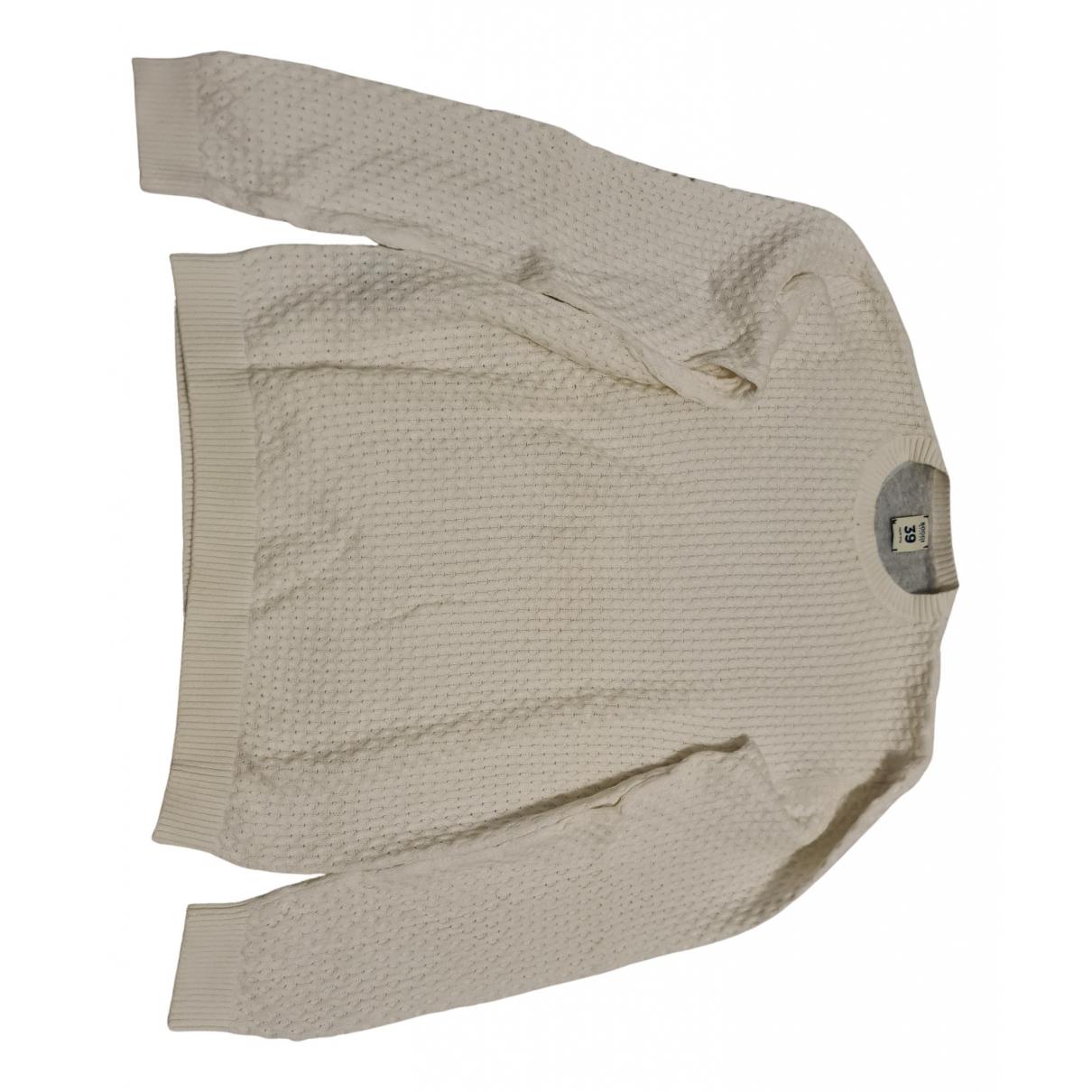 Boggi \N Pullover.Westen.Sweatshirts  in  Weiss Baumwolle