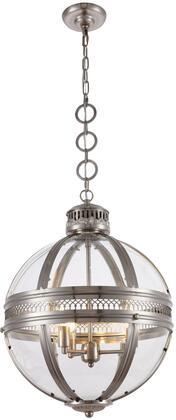1700D18SN 1700 Casanova Collection Pendant Ceiling Light L:18In W:18In H:24In Lt:3 Satin Nickel