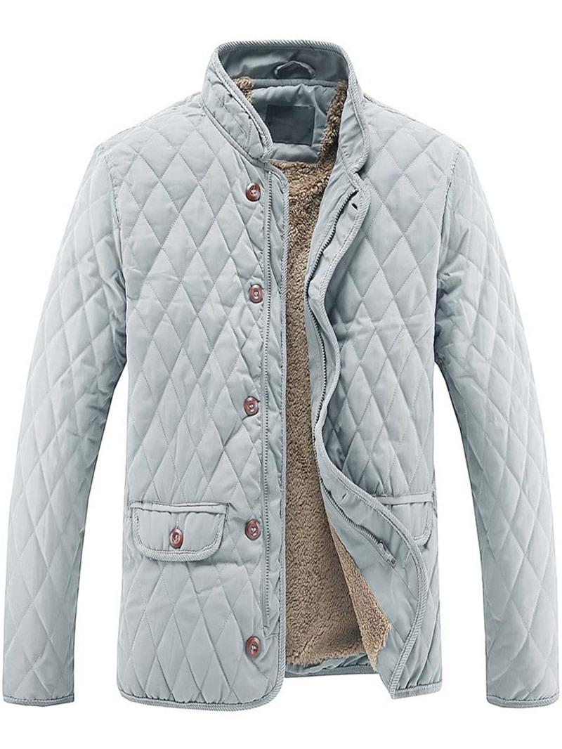 Ericdress Plain Thick Zipper Slim Casual Men's Jacket