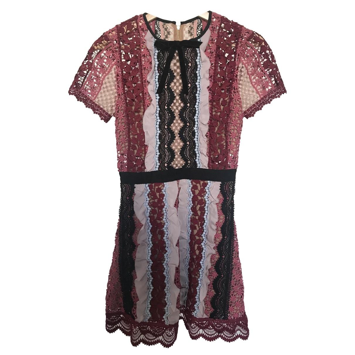 Self Portrait \N Pink Lace dress for Women 6 UK