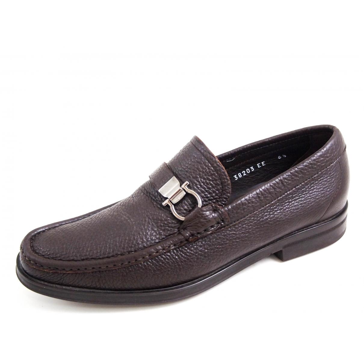 Salvatore Ferragamo \N Brown Leather Flats for Men 40.5 EU