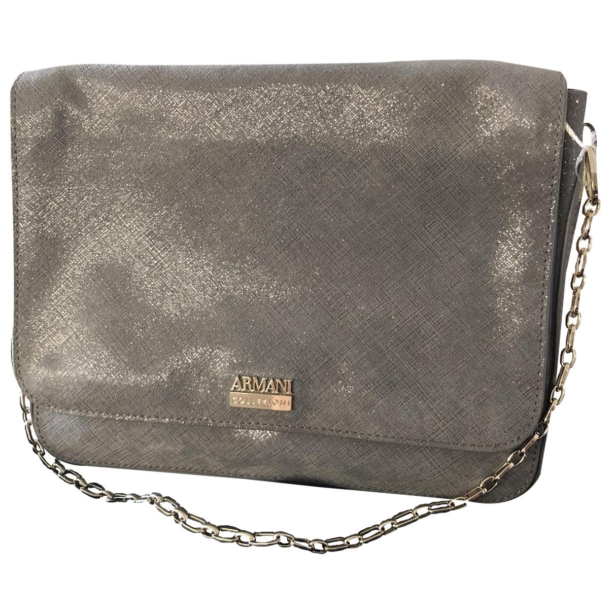 Armani Collezioni \N Grey Leather handbag for Women \N