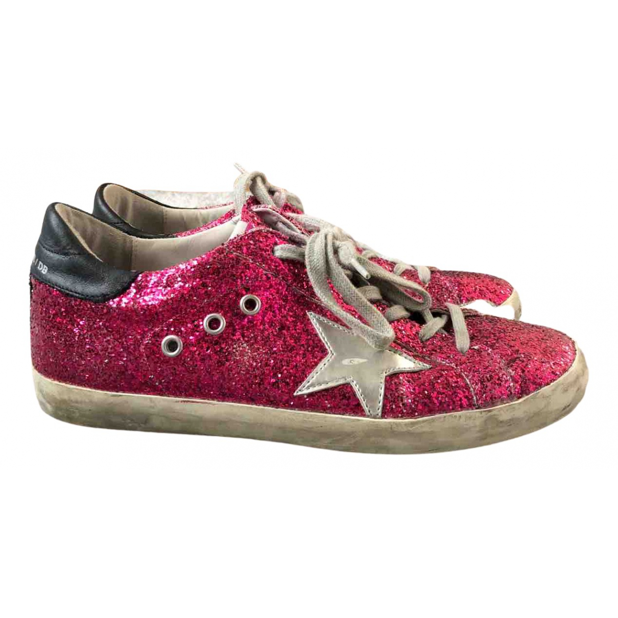 Golden Goose N Red Glitter Trainers for Women 40 EU