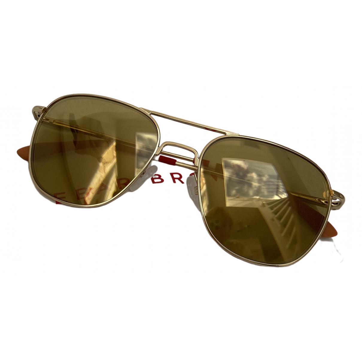 Linda Farrow \N Gold Metal Sunglasses for Men \N