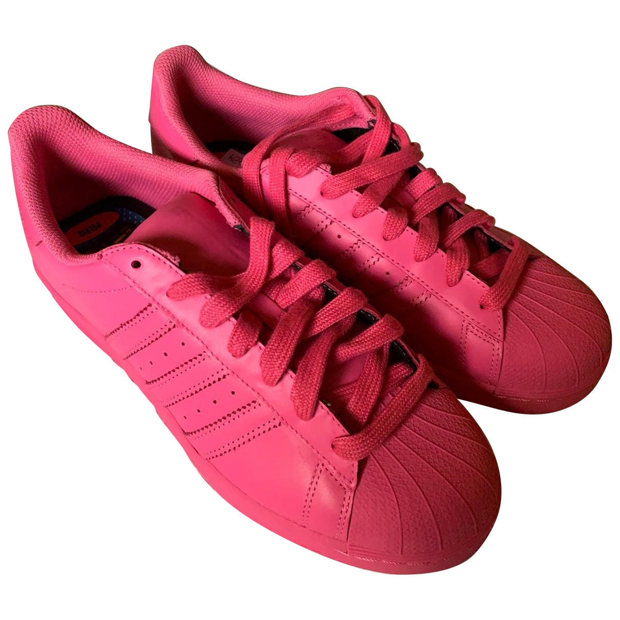 Adidas X Pharrell Williams \N Pink Leather Trainers for Men 42 EU
