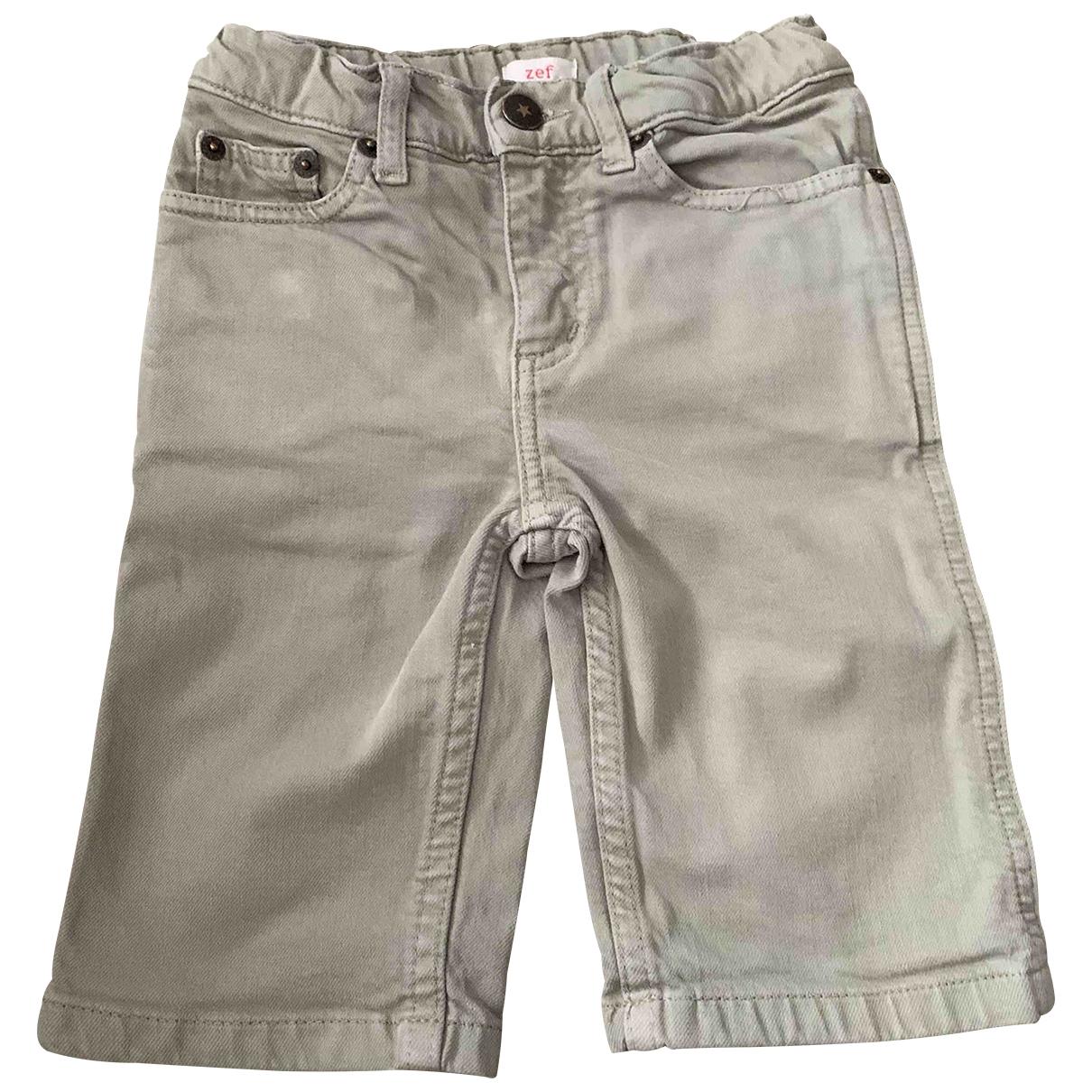 Zef - Short   pour enfant en denim - kaki