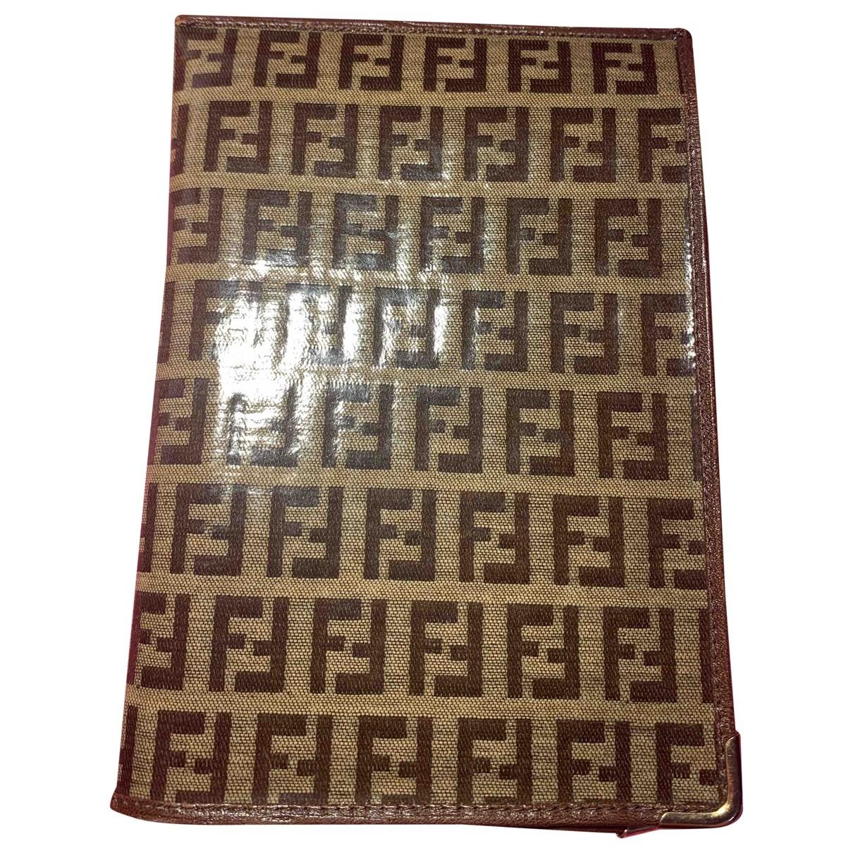 Fendi - Petite maroquinerie   pour homme en toile - marron