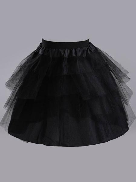 Milanoo Wedding Petticoat For Brides Beautiful Polyester Flower Girl Slip