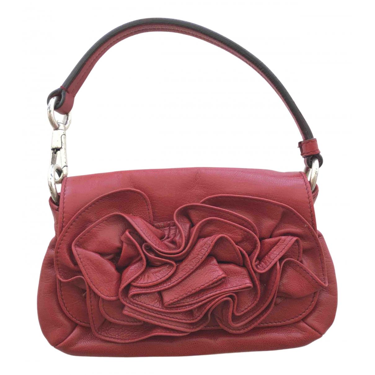 Yves Saint Laurent \N Red Leather handbag for Women \N