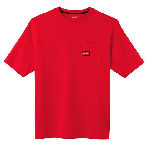 Milwaukee Heavy Duty Pocket T-Shirt - Short Sleeve - Red M