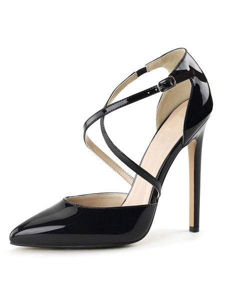 Milanoo Sexy Sandals For Woman Apricot PU Leather Pointed Toe Sequins Sexy Shoes