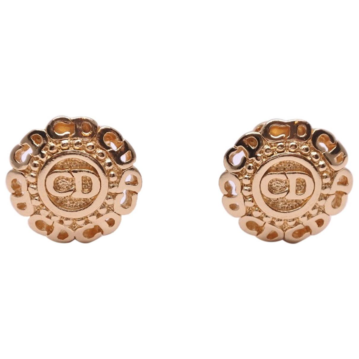 Dior \N Gold Metal Earrings for Women \N